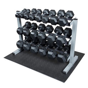 Adjustable Rubber Dumbbell Hex Dumbbells Sets