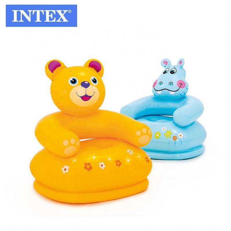 Intex 68556 PVC Inflatable Happy Animal Ghế Assortment Inflatable Trẻ Em Air Sofa