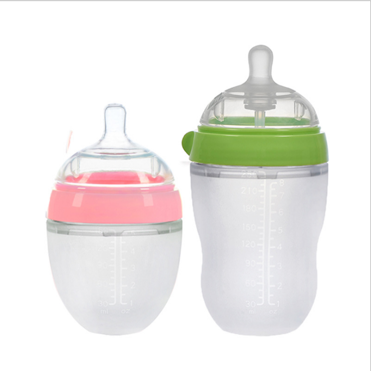 Silicone Baby Bottle Feeding baby supplies Wholesale food grade silicone baby feeding milk bottle for bebe feeding