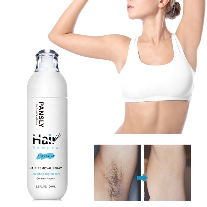 Spray Hair Removal 100ml Best For Sensitive Skin Remove Stubborn Hair Gentle Smooth Delay Hrowth Pansly Permanent Hair Spray Removal