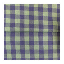 Polycotton green gingham check fabric texture for dress and shirt