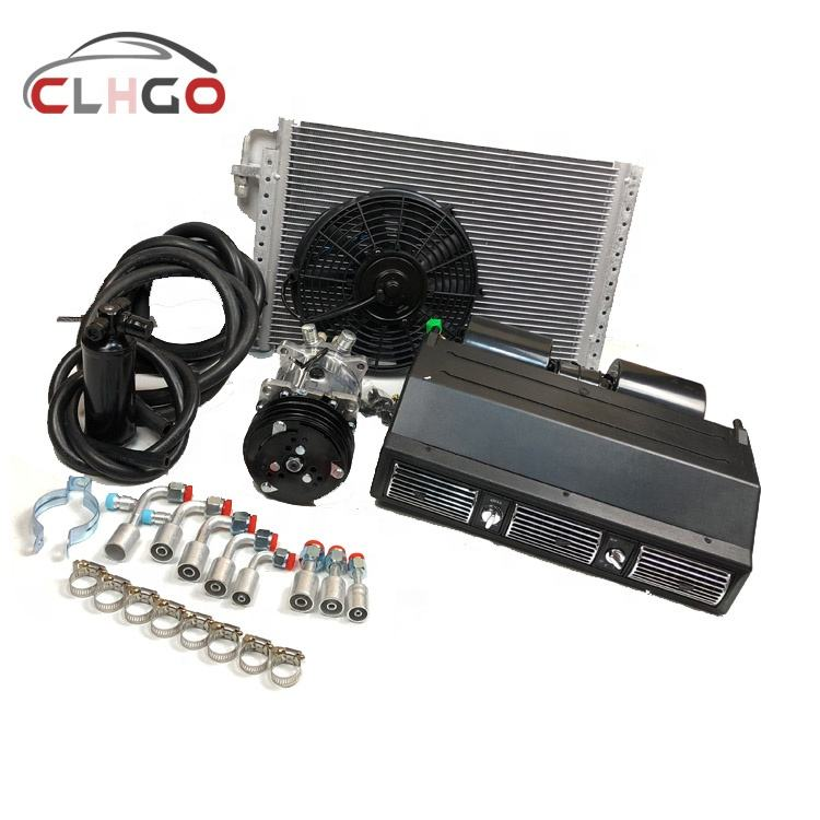 FOR TRUCK BUS UNIVERSAL AUTO AC SYSTEM A/C KIT UNDER DASH BEU-450L-100A Evaporator 12/24 volt ac compressor repair kit