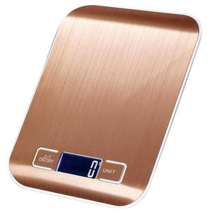 J&R Smarth Rose Gold 5KG Baking Weighing Food Electronics Digital Scale Kitchen Weights