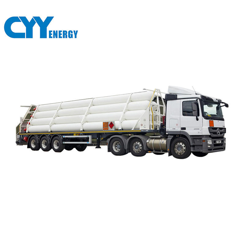 CO2 lng cng tube transport truck trailer with high quality for sale