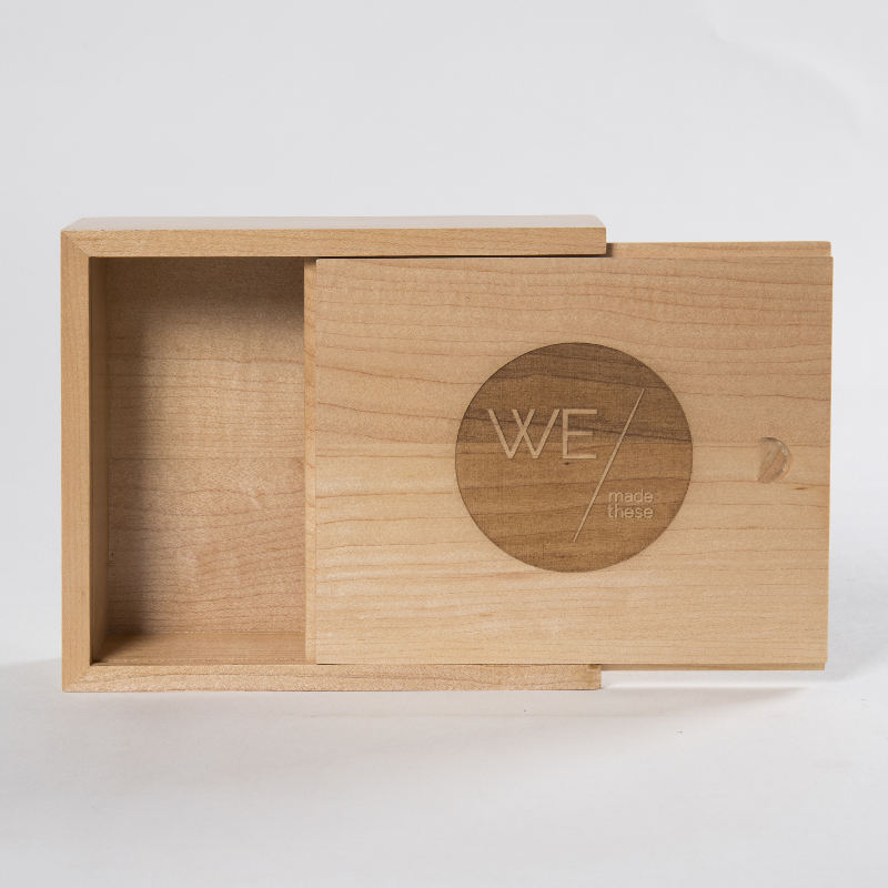Gift [ Wooden Box ] Unfinished Wood Box Unfinished Wooden Box Wood Packaging Box For Gift Sliding Wooden Box