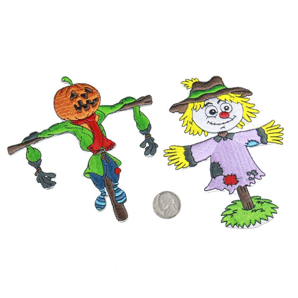 Hot-selling custom personalized children's themed pumpkin scarecrow series with 3D embroidery patches