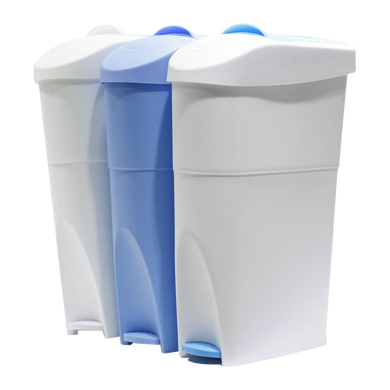 18l Kenya China lady female bathroom napkin pad disposal pedal plastic slim sanitary bin