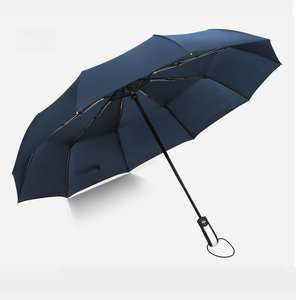 Advertising Dome Folding Travel Automatic Umbrella With Custom Logo