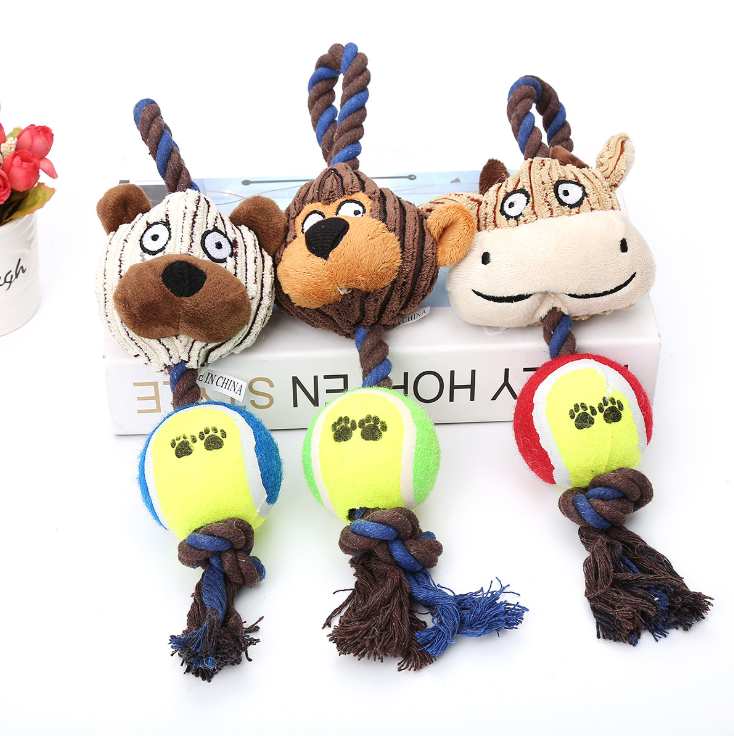 High Quality Pet Plush Toy Animal Soft Durable Chewing Pet Dog Funny Toy