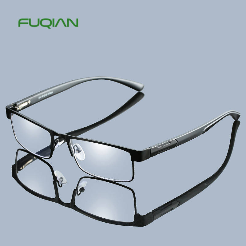 Men Titanium Alloy Reading Glasses Non spherical 12 Layer Coated Lenses Eyeglasses