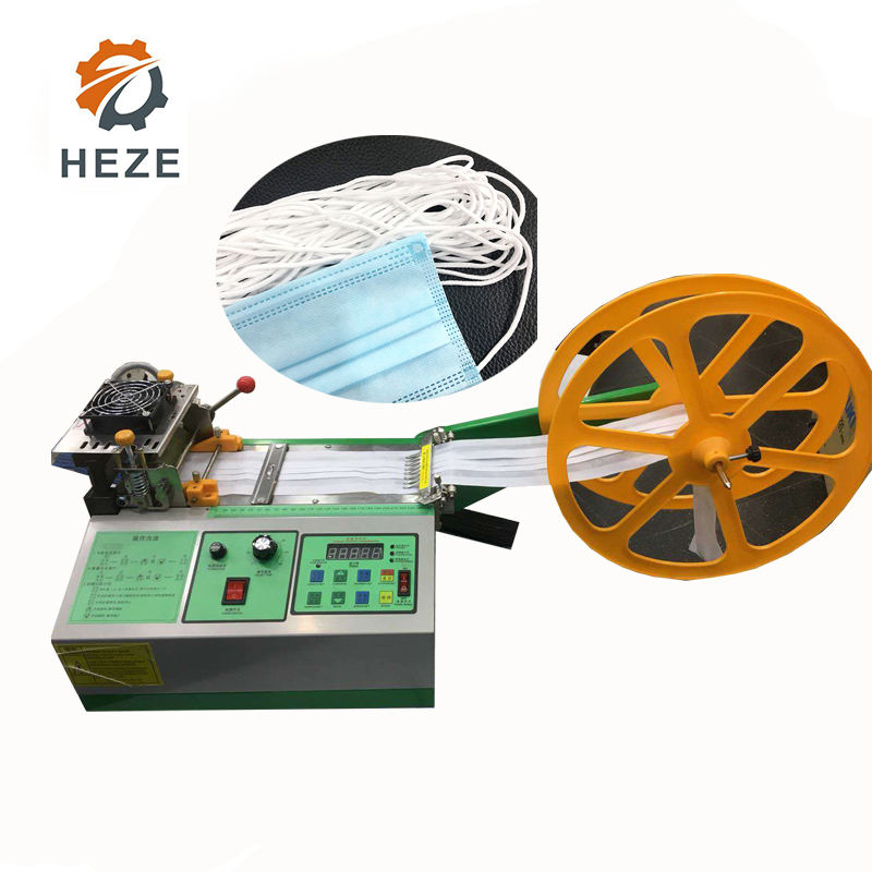 High Speed micro computer elastic band Nylon tape cutter/ woven metal zipper cutting machine
