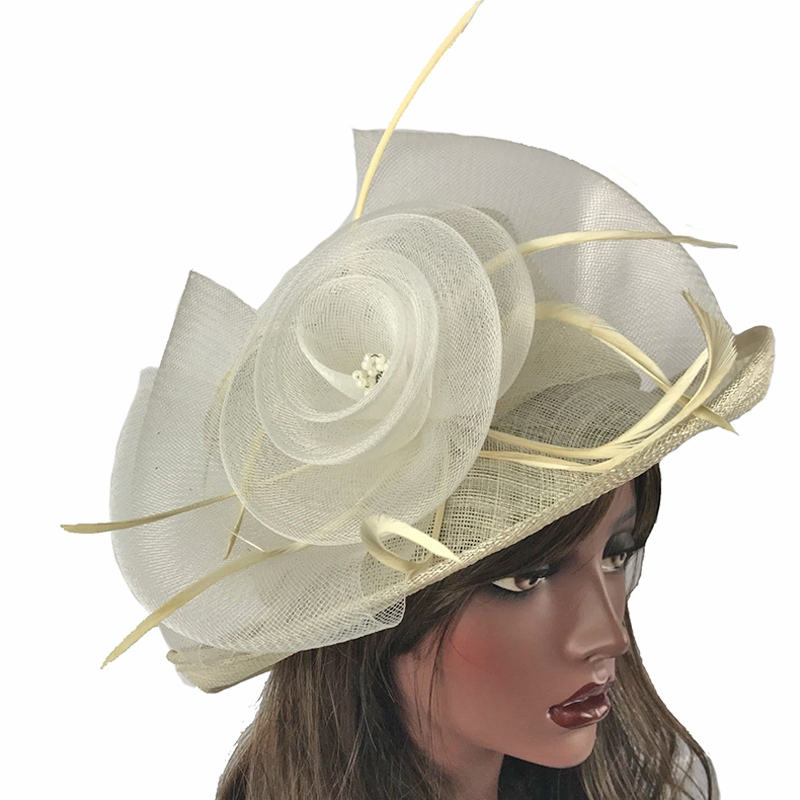 ABPF Ladies Sinamay Fabric Derby church hats