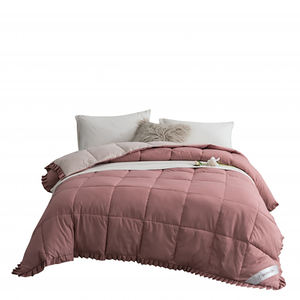 90% goose comforter polyester plaid down duvet/microfiber quilt hotel summer bed quilted comforter