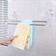 Super Sticky Bathroom Kitchen Suction Cup Acrylic Plastic Wall Mounted Double Bath Towel Rack with Stainless Steel Shelf Bar