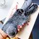 3D Warm Cute Cartoon Fluffy Rabbit Plush Case For Huawei Mate 30 Pro 20 P30 P20 P10 Lite P Smart 2019 y6 y9 prime 2019 TPU Cover