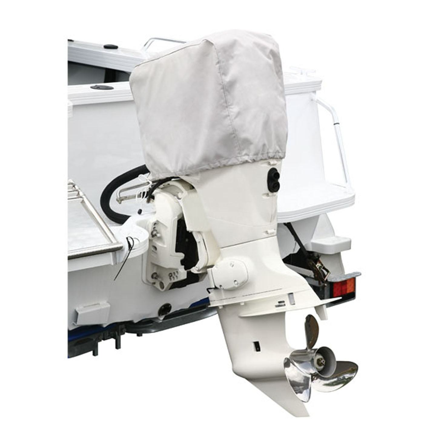 Outboard boat engine cover