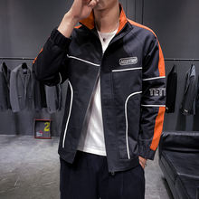 Factory Directly Sale Stand Collar Zipper Windbreak Autumn Jacket for Men
