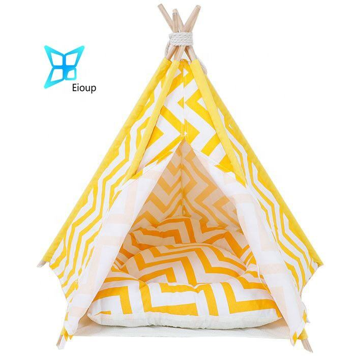 Five Sticks Soft Pet Tribe Comfortable Pet Teepee Dog camping teepee tent