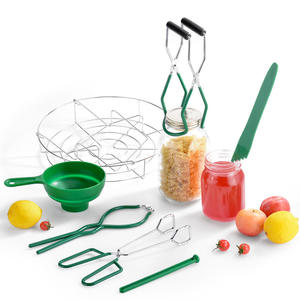 Stainless Steel Large Canning for Home Canning Supplies Kitchen Tool Anti-Scald Clip Suit JIEQIJIAJU 7 Piece Canning Kit Canning Supplies Set Canning Jar Lifter with Grip Handles