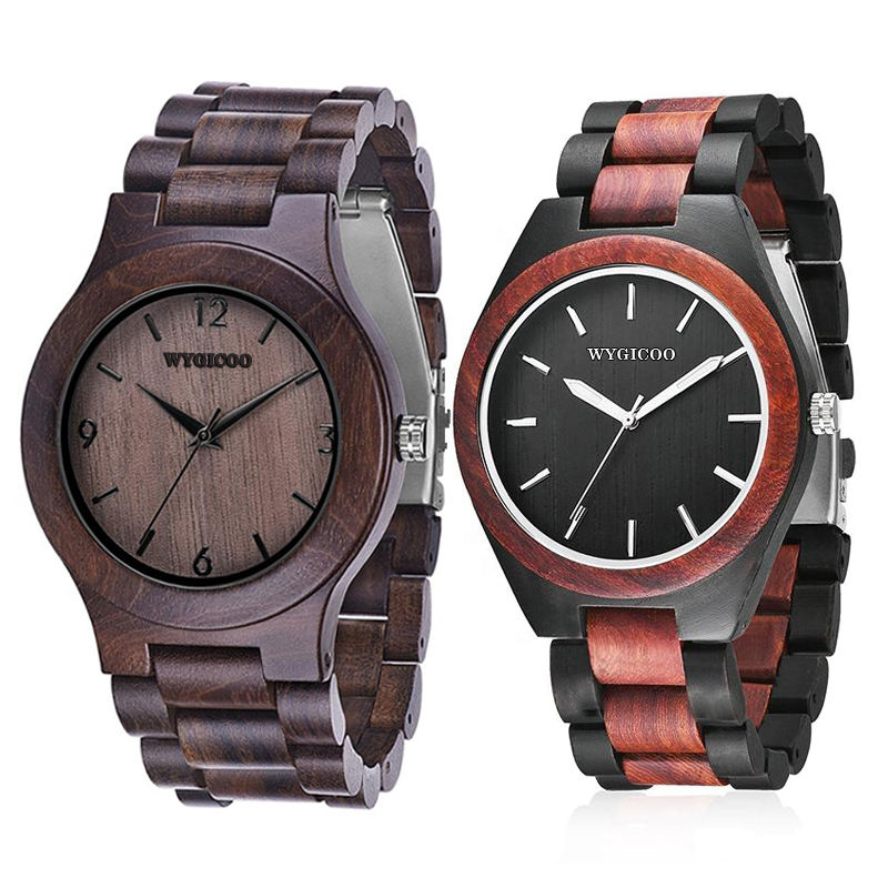 WYGICOO OEM Wholesale Personalise Engraved Women Men Wooden Bamboo Watch For Men and Women