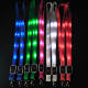whosale promotional custom logo polyester LED bling lights lanyards