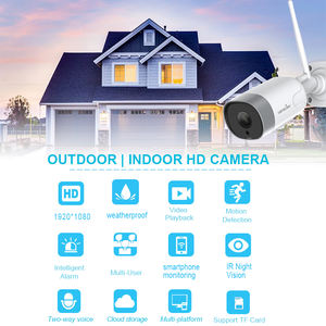 1080P Outdoor Waterproof Wireless IP Camera  Wifi Home Security Camera Supports Cloud   TF sd card