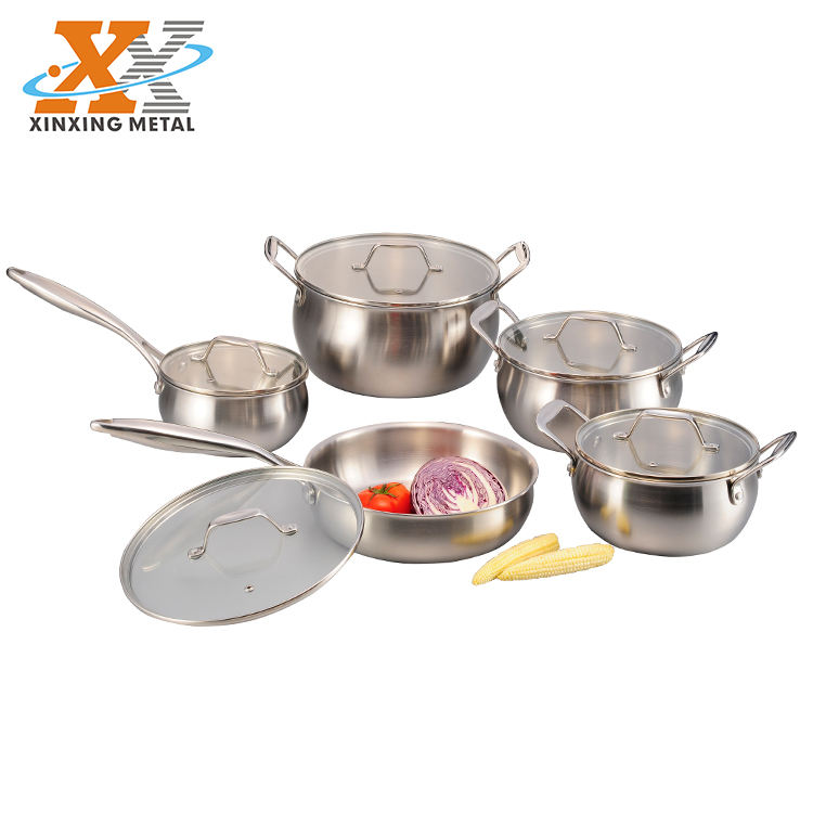 Fast Delivery Royal Prestige Cookware Set Stainless Steel Casserole 10PCS Cookware Set