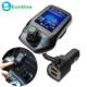 Eonline 1.8 inch TFT Color Display Bluetooth Car Kit Handsfree Set 3 USB Port QC3.0 Quick Charge FM Transmitter MP3 Music P