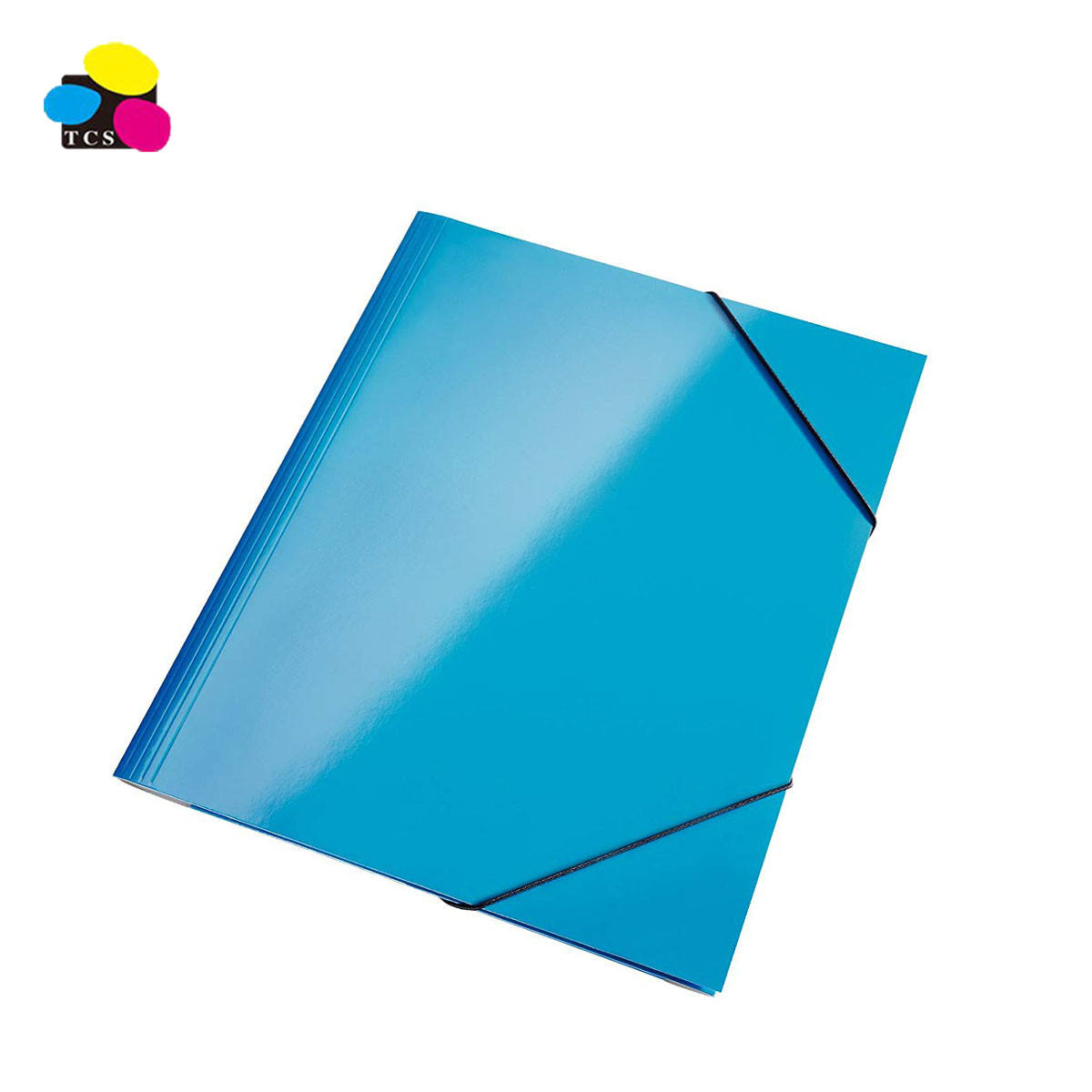 Manufacturers Wholesale 300gsm Glossy PP Laminated 3-Flap Folder With Elastic Bands For School and Office Supplies
