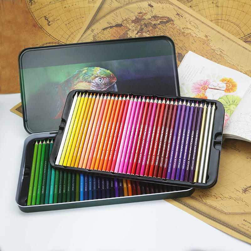 12/18/24/36/48/72 Oily Color Painting Colored Hand-Painted Sketch Pen School Office Supplies Pencil Set/