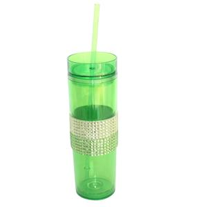 Wholesale 16oz plastic tumblers with lids and straws