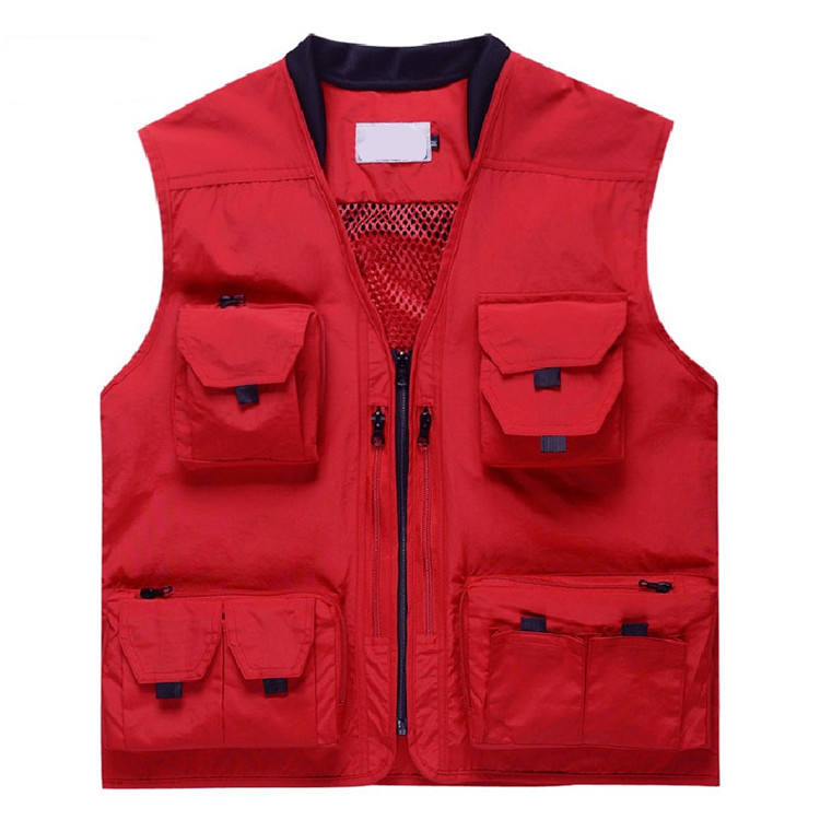 Men's Summer Outdoor Work Safari Fishing Travel utility Vest with Pockets