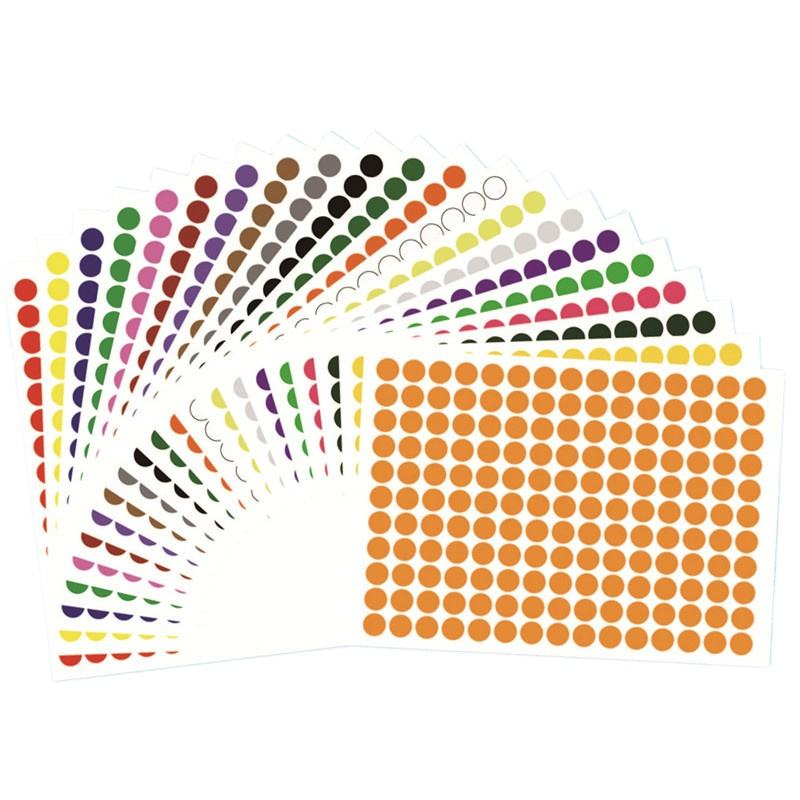 0.6cm Circle Round Color Coded Label small blank Dot Sticker