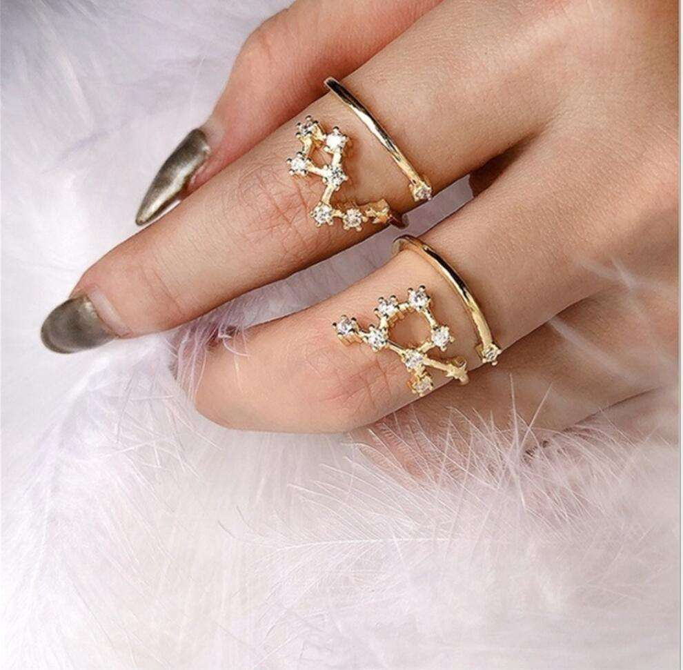 Unique Beautiful Vintage Ring 4pcs/Set Tibetan Antique Silver Plated Boho Jewelry Rings For Women