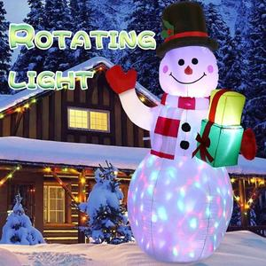 Ourwarm Dekorasi Natal Indoor Outdoor 5ft Airblown Natal Inflatable Snowman dengan Lampu LED