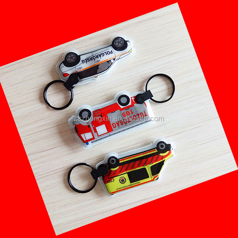 custom promotion gifts key chains keyring OEM car LOGO PVC mini led keychain light