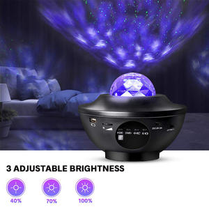 2020 Baby Kids Bluetooth Skybright Stars LED USB 360 Rotation Ocean Wave Starry Sky Laser Star Lights Night Light Star Projector