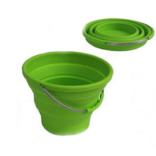 Outdoor Portable Collapsible Laundry Water Bucket Foldable Silicone