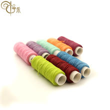 Flat wax line 150d hand-stitched wax line leather multi-color diy16 strand knotless weave walking wax line 0.8mm wholesale