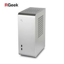 RGeek Custom OEM Unique Aluminum Computer Cases ITX Mini PC Towers Chassis Micro ATX Case with Graphic bracket
