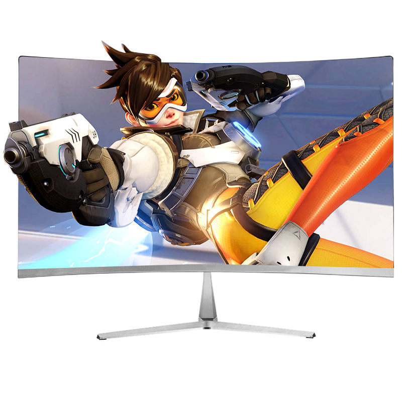 Blanco led HD curva 24 144HZ de monitor de pc