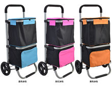 New design wholesale foldable shopping trolley cart with bag