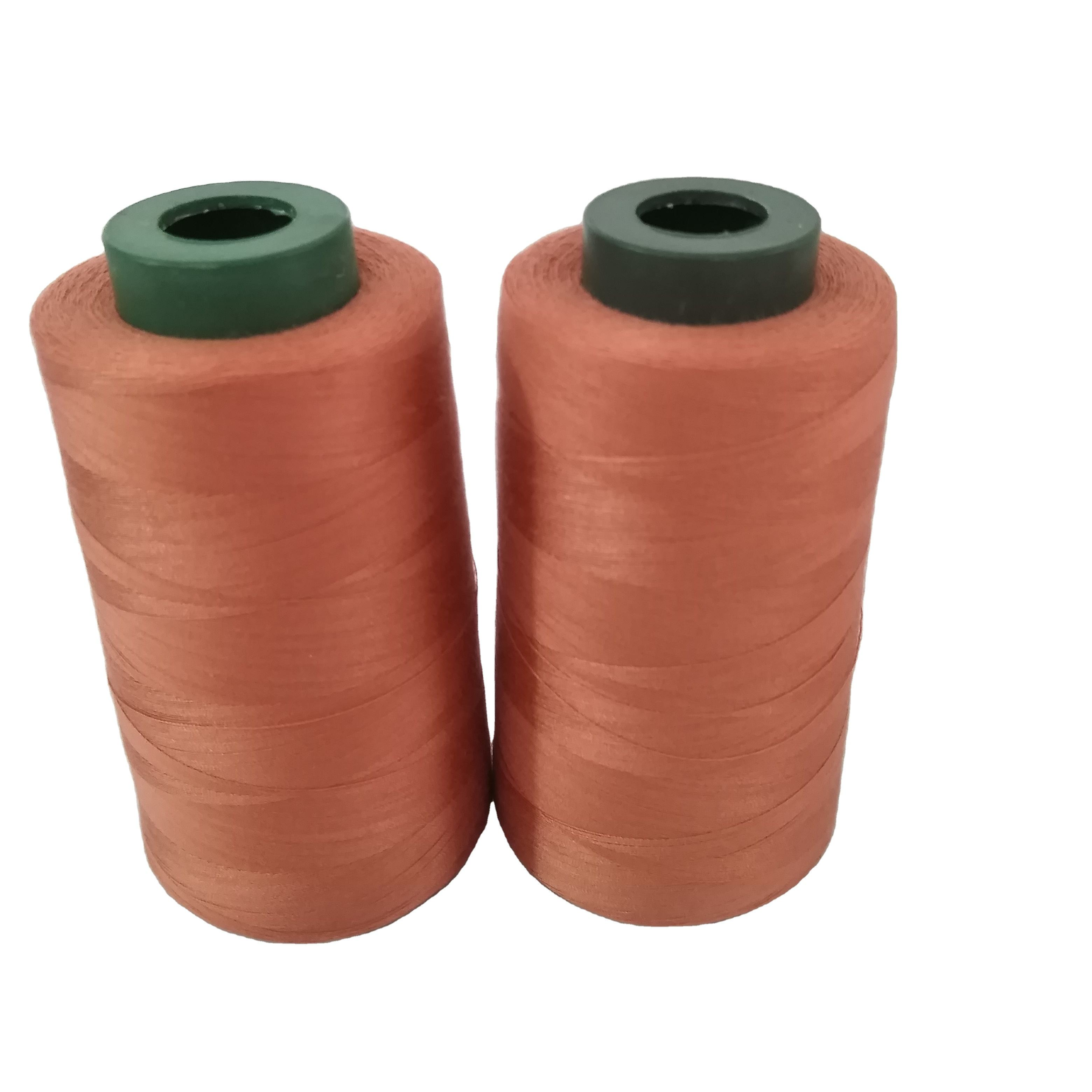 Best price line 100% polyester dyeing sewing thread 40s / 2 5000 y sewing thread thread shaft