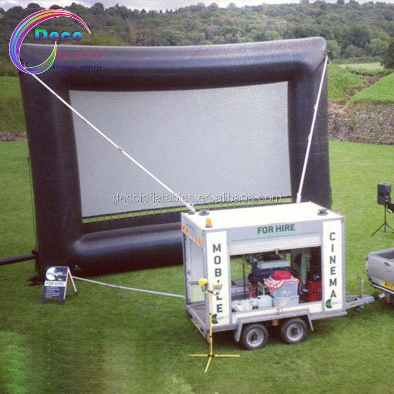 Open Air Cinema Inflatable Movie Screen Blow Up TV Screen And Projector