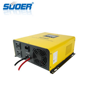 Suoer 12V/ 24V 1000w נמוך תדר טהור סינוס גל שמש מהפך built-in מטען