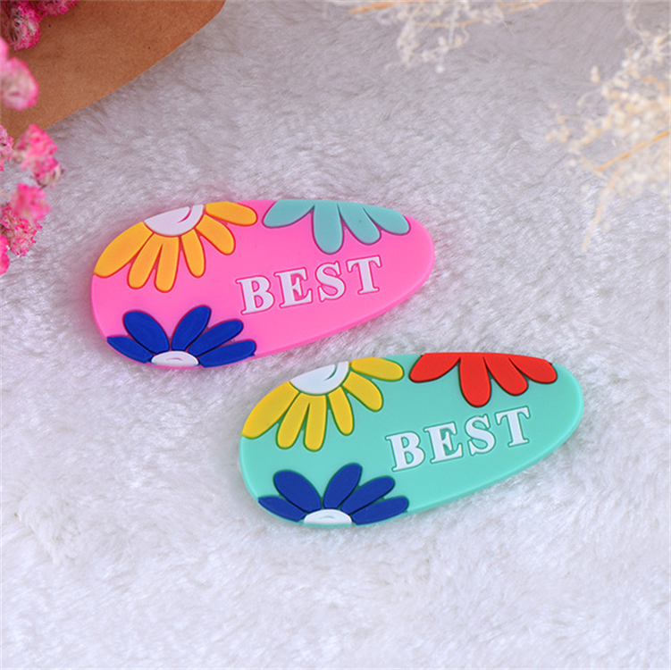 Cartoon Custom Sew Soft Rubber Pvc Iron On Patch For Kids