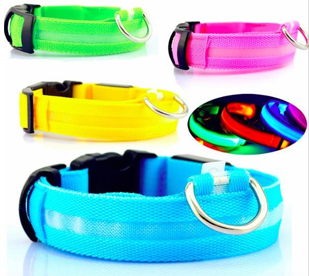Led Dog Collar Battery Flashing Light Pet Collar Adjustable Led Dog Collar