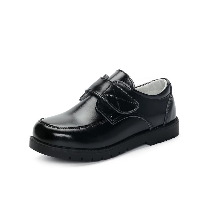 Оптовая продажа детей черное платье обувь дети мальчики кожаные школьные туфли