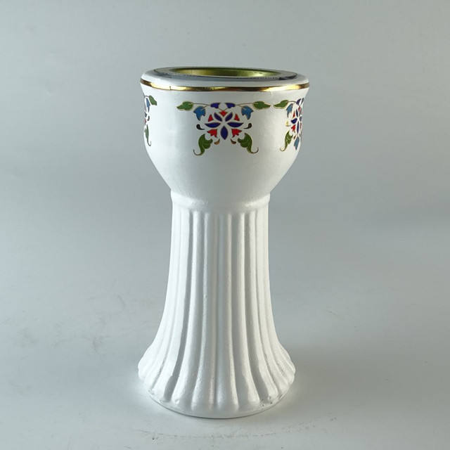 White with flower design Arab for Bakhour incense burning supplier ceramic incense burner