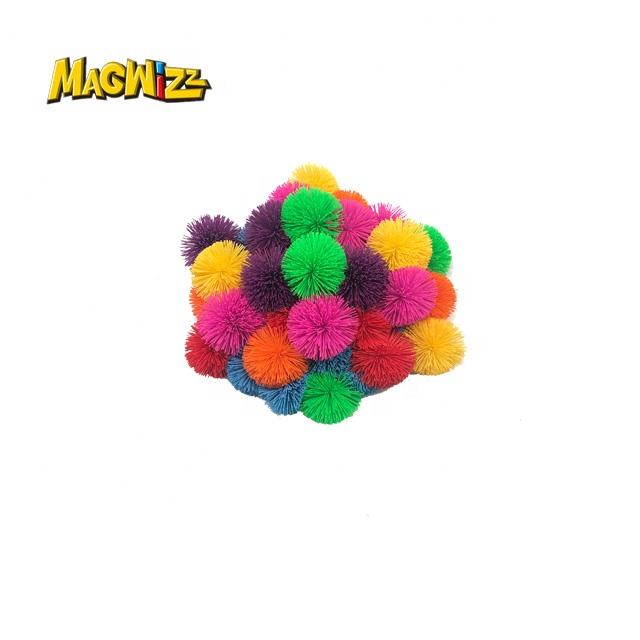 Fun Toy Monkey Brushed Ball Stress Relief Ball Office Stress Toys Star Magic Koosh Balls Multi-Color Gift Set Bundle